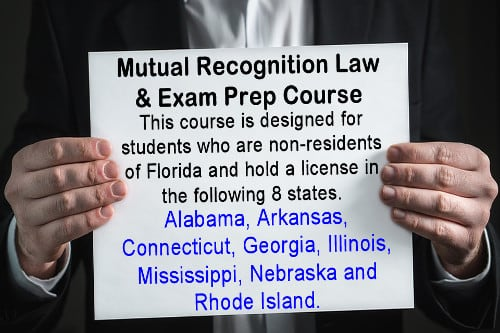Real Estate Mutual Recognition Law Exam Prep Course clickable image